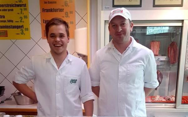 Fleischermeister Alex Lemp und GF Christian Stromayr